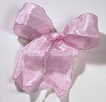 Lyon French Wired Ribbon - Baby Pink