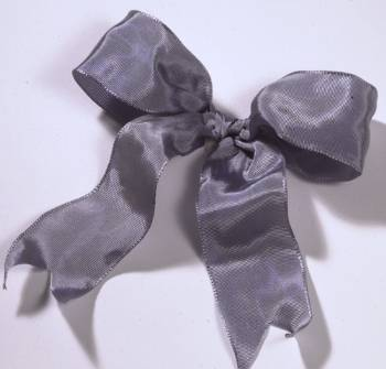 Lyon French Wired Ribbon - Pewter