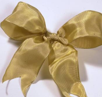 Lyon French Wired Ribbon - Old Gold LARGE