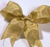 Lyon French Wired Ribbon - Old Gold THUMBNAIL