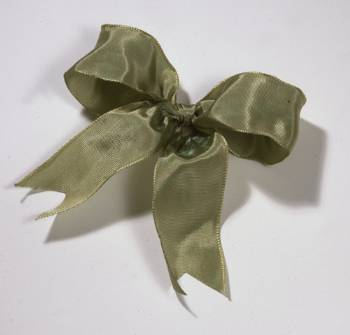 Lyon French Wired Ribbon - Antique Moss