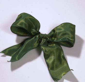 Lyon French Wired Ribbon - Moss