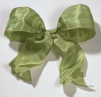 Lyon French Wired Ribbon - Soft Moss LARGE