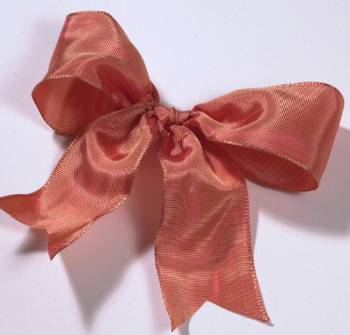 Lyon French Wired Ribbon - Coral
