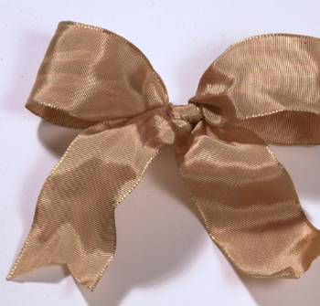 Lyon French Wired Ribbon - Sandstone LARGE