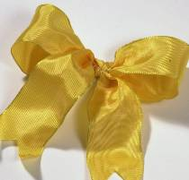 Lyon French Wired Ribbon - Canary Yellow LARGE