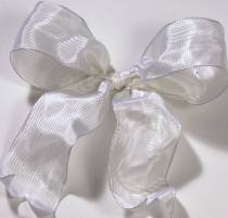 Lyon French Wired Ribbon - Bridal White