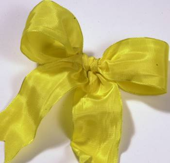 Lyon French Wired Ribbon - Yellow LARGE