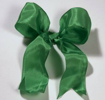 Lyon French Wired Ribbon - Green LARGE