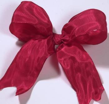 Lyon French Wired Ribbon - Red LARGE