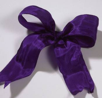 Lyon French Wired Ribbon - Purple LARGE