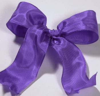 Lyon French Wired Ribbon - Lilac LARGE