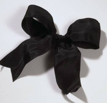 Lyon French Wired Ribbon - Black LARGE