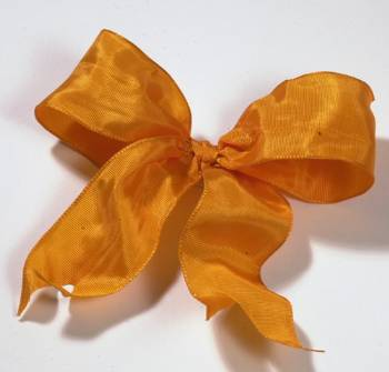 Lyon French Wired Ribbon - Mandarin