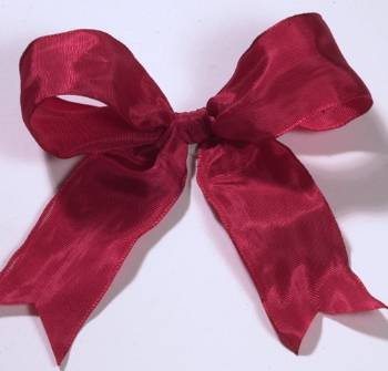 Lyon French Wired Ribbon - Holiday Red LARGE