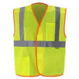 MESH CLASS 2 LIME YELLOW SAFETY VEST THUMBNAIL