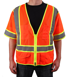 Yellow/Lime Reflective Mesh Safety Vest