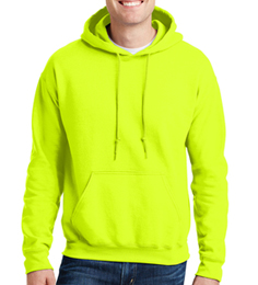 Safety Green Pullover Hooded Sweatshirt THUMBNAIL