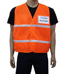 Orange Mesh Incident Command Vest