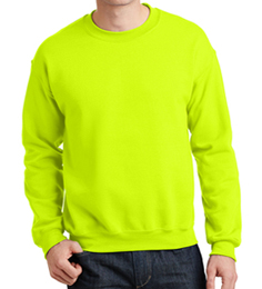 safety green Crew neck Sweatshirt
