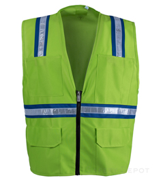 Light Green Safety Vest THUMBNAIL