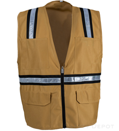 Tan Safety Vest THUMBNAIL
