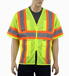 Yellow Class 3 Cool  Mesh Safety Vest