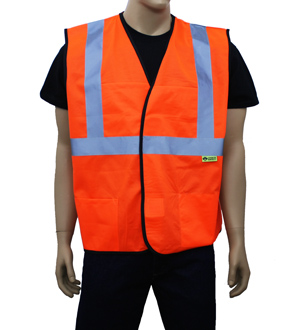 Orange Class 2 Safety Vest
