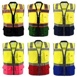 Premium Two Toned Class 2 Safety Vest THUMBNAIL