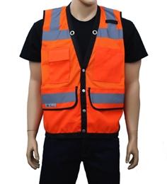 Orange Surveyor Safety Vest THUMBNAIL