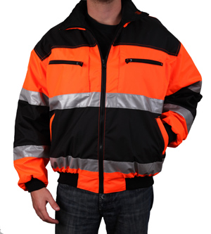 Orange/Black Reflective Jacket