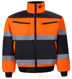 Orange/Black Reflective Jacket THUMBNAIL