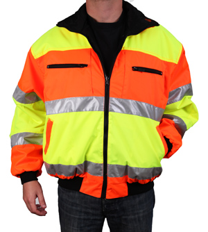 Orange/Yellow Reversible Reflective Jacket