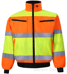 Hi Vis Orange/Yellow Safety Jacket THUMBNAIL