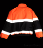 Orange/Black Reflective Jacket SWATCH