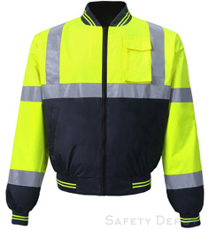 Yellow/Lime Safety Windbreaker THUMBNAIL