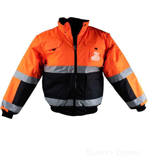 Orange/Black Reversible jacket_MAIN