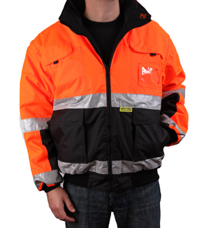 Orange/Black Reversible Reflective Jacket