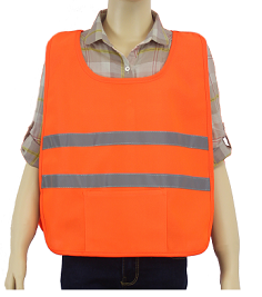 Children's Reflective Orange Safety Poncho