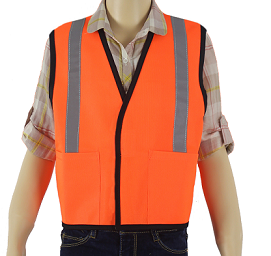Children's Reflective Orange Safety Vest THUMBNAIL