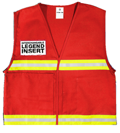 red incident series vest safety vest,  ml kishigo