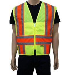 Yellow Mesh Reflective Vest_THUMBNAIL