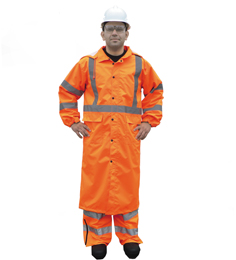 Class 3 Orange Rain Coat