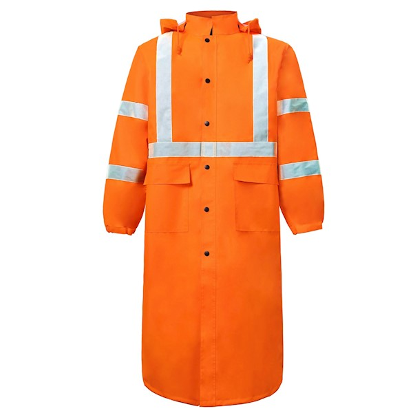 Class 3 Orange Rain Coat MAIN