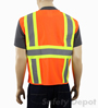 Orange Class 2 Safety Vest pockets Mini-Thumbnail