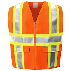 Orange Class 2 Safety Vest THUMBNAIL