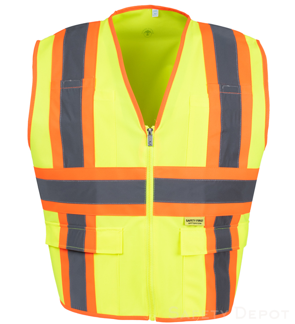Safety yellow reflective Safety Vest MAIN
