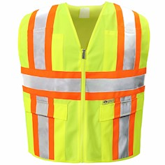 Safety yellow reflective Safety Vest THUMBNAIL