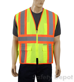 Lime yellow reflective Safety Vest