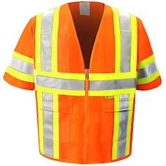 Orange Reflective Safety Vest THUMBNAIL